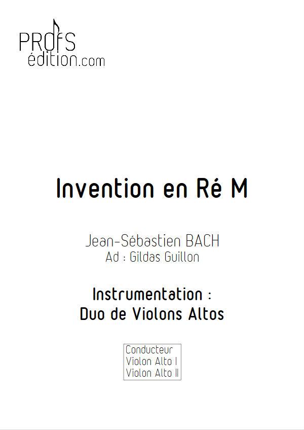 5 Inventions - Duo Altos - BACH J. S. - page de garde