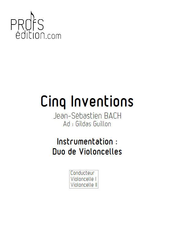 5 Inventions - Duo Violoncelles - BACH J. S. - page de garde