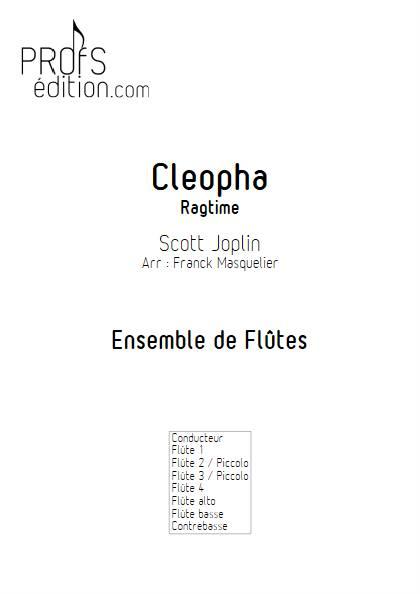 Cleopha - Ensemble de Flûtes - JOPLIN S. - page de garde