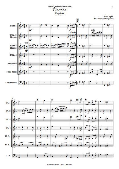 Cleopha - Ensemble de Flûtes - JOPLIN S. - app.scorescoreTitle
