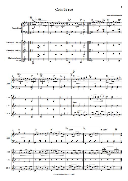 Coin de Rue - Quatuor - TROTOUX J-M - app.scorescoreTitle