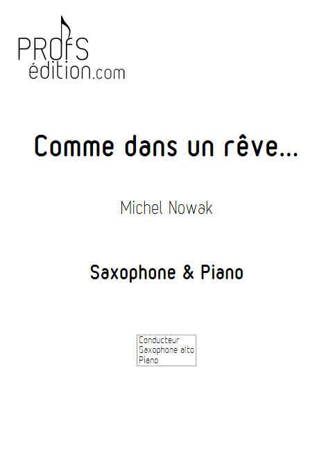 Comme dans un rêve - Saxophone Piano - NOWAK M. - page de garde