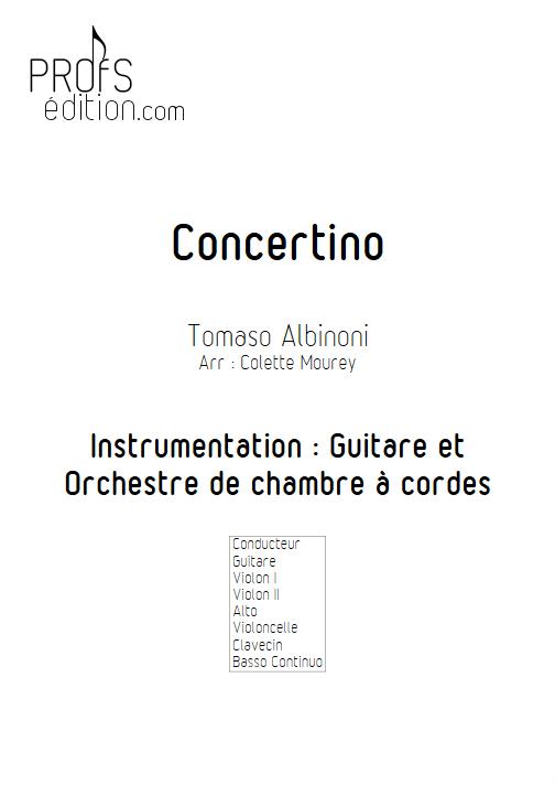 Concertino - Guitare & Orchestre de Chambre à Cordes - ALBINONI T. - page de garde