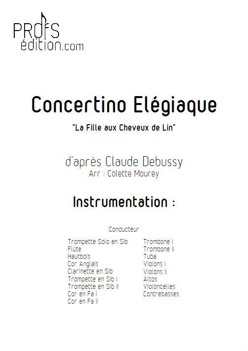 Concertino Elegiaque (La fille aux cheveux de lin) - Orchestre Symphonique - DEBUSSY C. - page de garde
