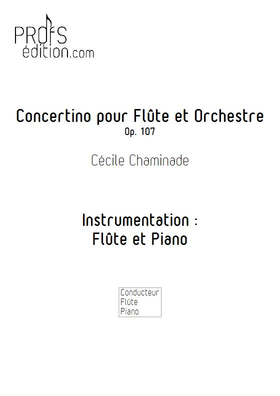 Concertino Op.107 - Flûte et Piano - CHAMINADE C. - page de garde
