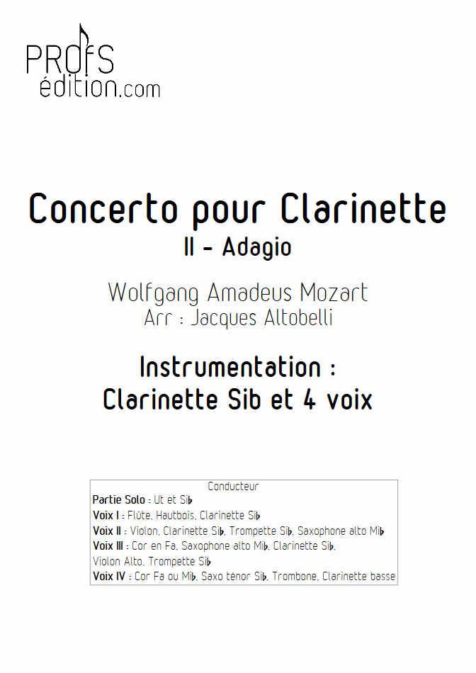 Concerto pour Clarinette KV622 (Adagio) - Ensemble Géométrie Variable - MOZART W. A. - page de garde