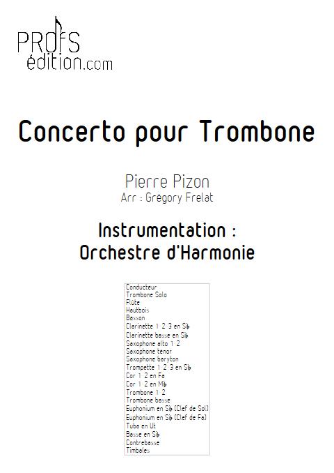 Concerto pour Trombone - Trombone et Orchestre d'Harmonie - PIZON P. - page de garde