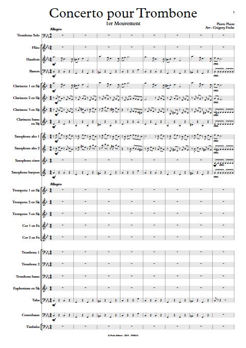 Concerto pour Trombone - Trombone et Orchestre d'Harmonie - PIZON P. - app.scorescoreTitle