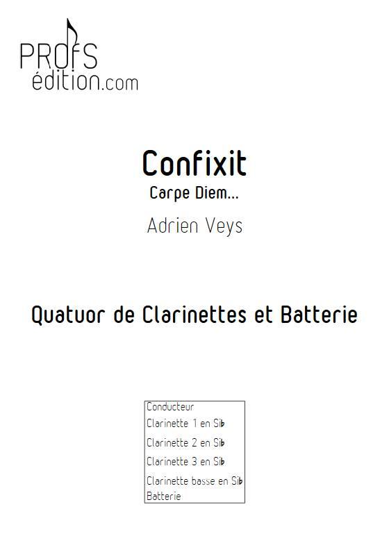 Confixit - Quatuor de Clarinettes - VEYS A. - page de garde