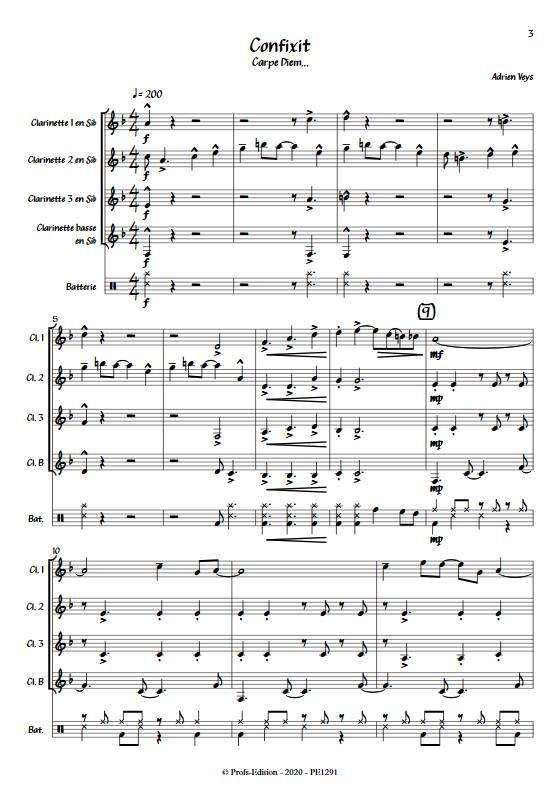 Confixit - Quatuor de Clarinettes - VEYS A. - app.scorescoreTitle