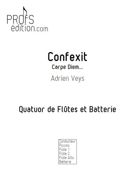 Confixit - Quatuor de Flûtes - VEYS A. - page de garde