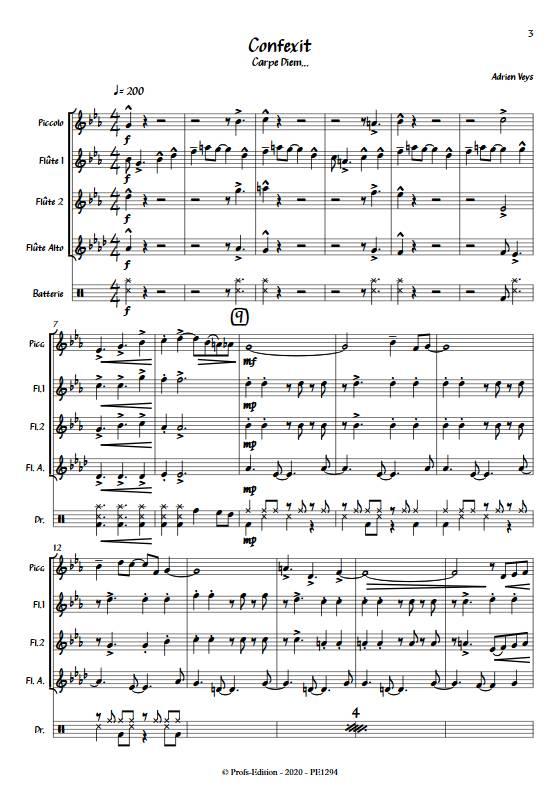 Confixit - Quatuor de Flûtes - VEYS A. - app.scorescoreTitle