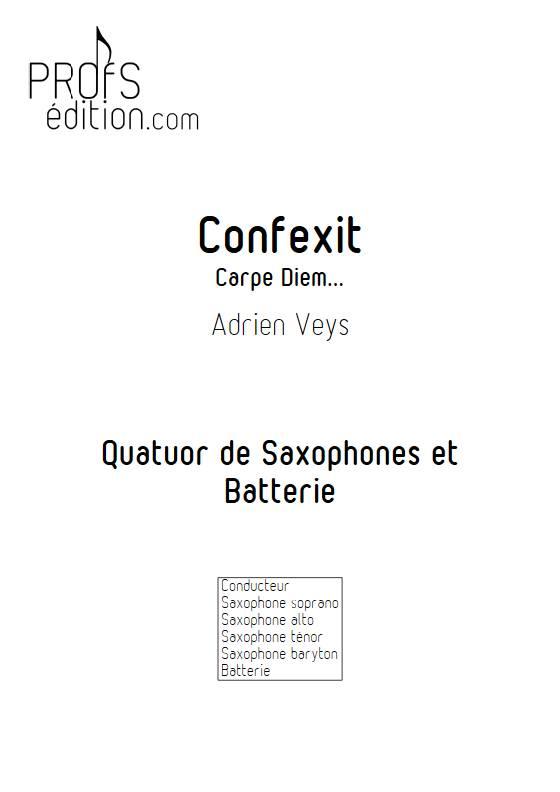 Confixit - Quatuor de Saxophones - VEYS A. - page de garde