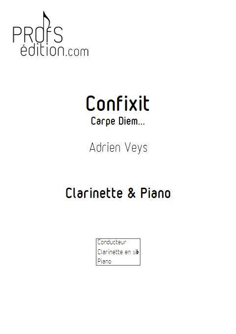 Confixit - Clarinette Piano - VEYS A. - page de garde