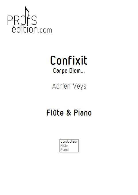 Confixit - Flûte Piano - VEYS A. - page de garde