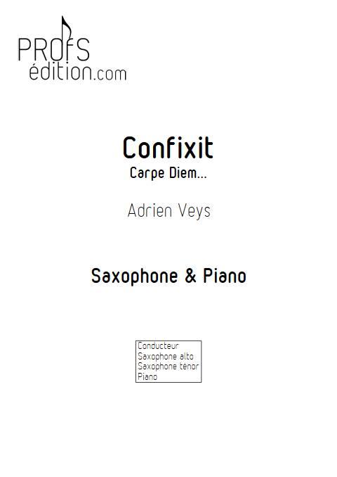 Confixit - Saxophones Piano - VEYS A. - page de garde