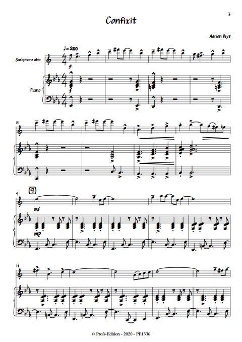 Confixit - Saxophones Piano - VEYS A. - app.scorescoreTitle