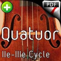 Clavier bien tempéré BWV 863 - Quatuor à Cordes - BACH J. S.