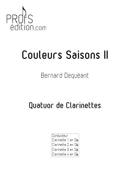 Couleurs Saisons II - Quatuor de Clarinettes - DEQUEANT B. - page de garde