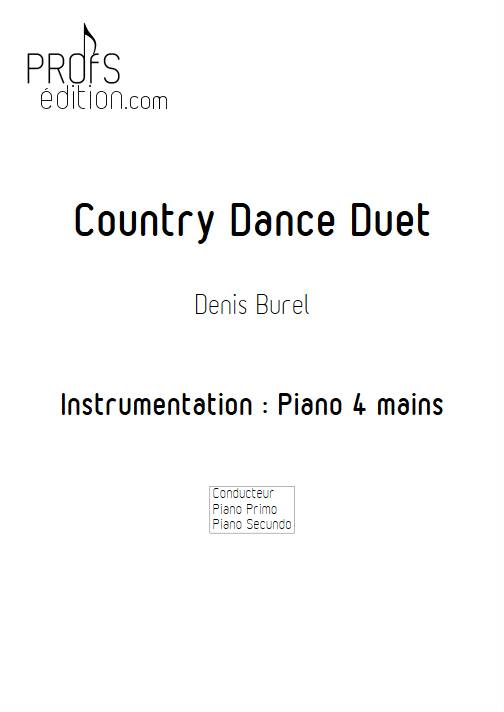 Country Dance Duet - Piano 4 mains - BUREL D. - page de garde