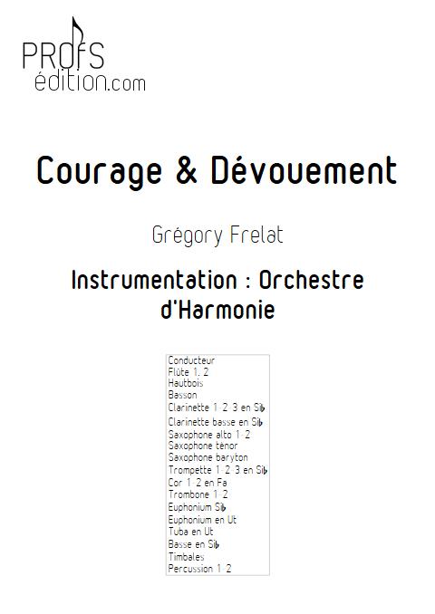 Courage et dévouement - Orchestre d'Harmonie - FRELAT G. - page de garde