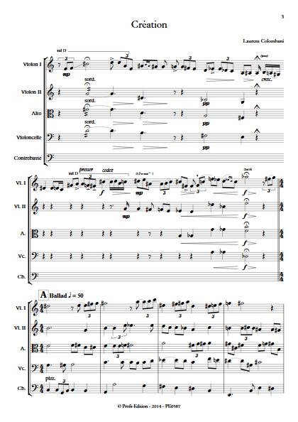Création - Quintette à Cordes - COLOMBANI L. - app.scorescoreTitle