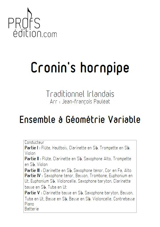 Cronin's hornpipe - Ensemble Variable - TRADITIONNEL IRLANDAIS - page de garde