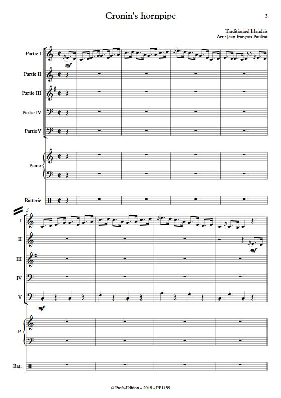 Cronin's hornpipe - Ensemble Variable - TRADITIONNEL IRLANDAIS - app.scorescoreTitle