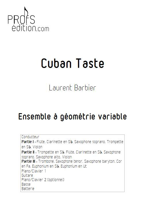 Cuban Taste - Ensemble Variable - BARBIER L. - page de garde
