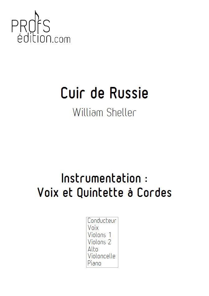 Cuir de Russie - Chant et Quintette à Cordes - SHELLER W. - page de garde