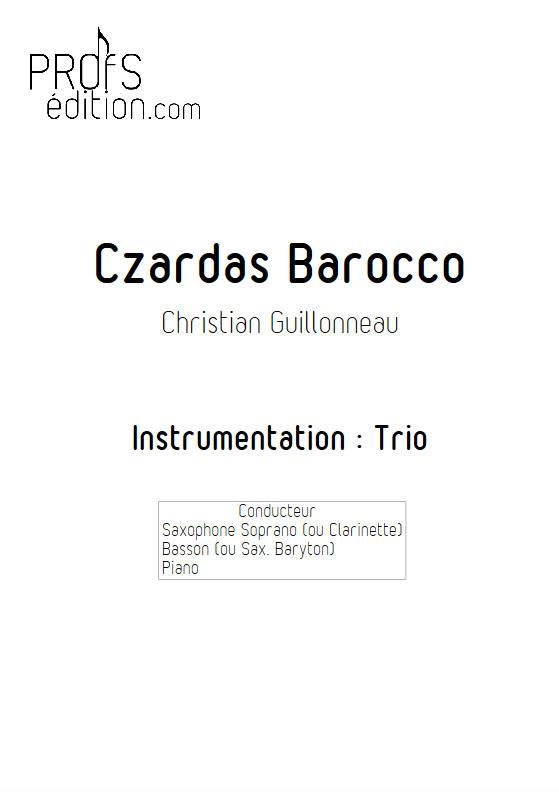 Czardas Barocco - Trio Saxophone Basson Piano - GUILLONNEAU C. - page de garde