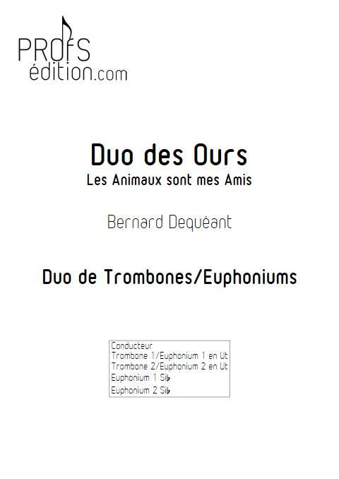 Duo des Ours - Duo de Trombones - DEQUEANT B. - page de garde