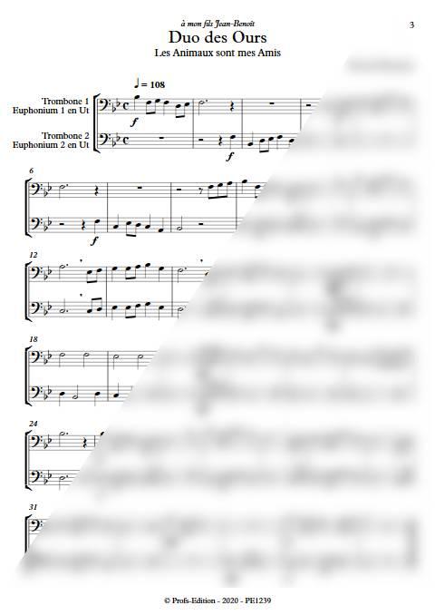 Duo des Ours - Duo de Trombones - DEQUEANT B. - app.scorescoreTitle