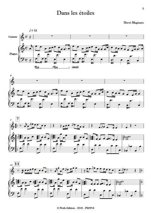 Dans les étoiles - Piano et Guitare - MAGISANO H. - Partition