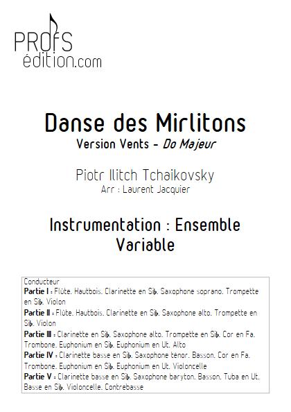 Danse des Mirlitons - Ensemble à Géométrie Variable - TCHAIKOVSKY P. I. - page de garde
