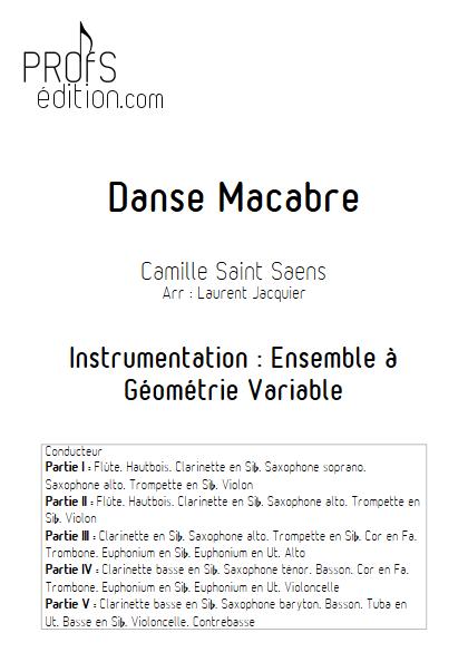 Danse Macabre - Ensemble à Géométrie Variable - SAINT-SAENS C. - page de garde