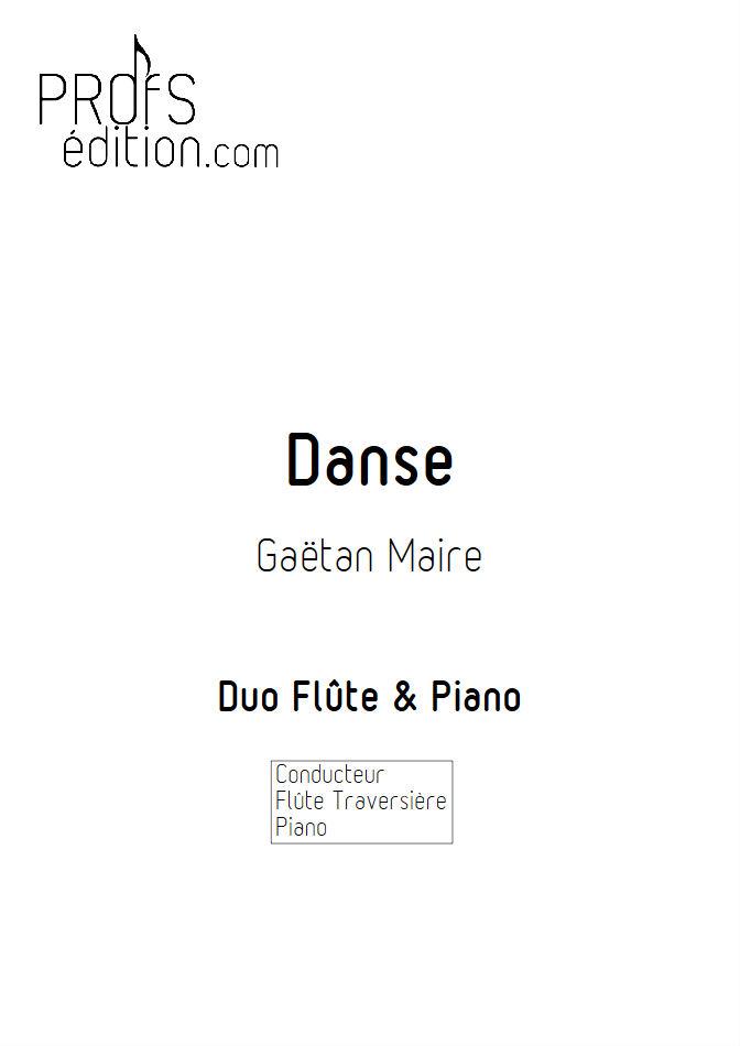Danse - Duo Flûte & Piano - MAIRE G. - page de garde