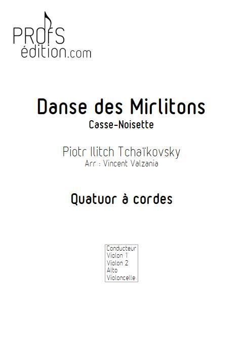 Danse des mirlitons - Quatuor à Cordes - TCHAIKOVSKY P. I. - page de garde