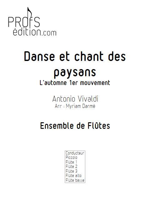 Automne 1er mvt - Ensemble de flûtes - VIVALDI A. - page de garde