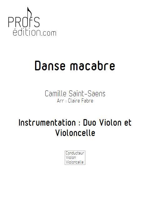 Danse macabre - Duo violon Violoncelle - SAINT-SAENS C. - page de garde