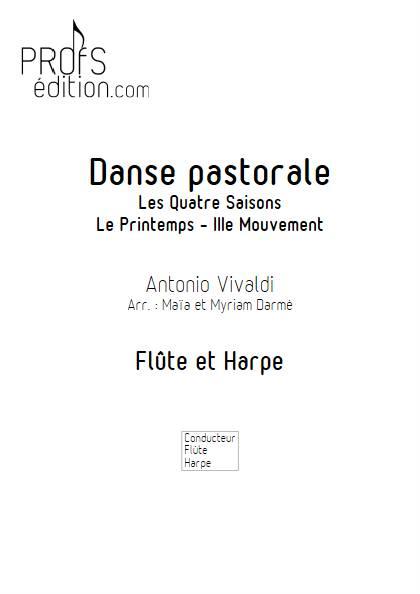 Danse pastorale - Flûte & Harpe - VIVALDI A. - page de garde