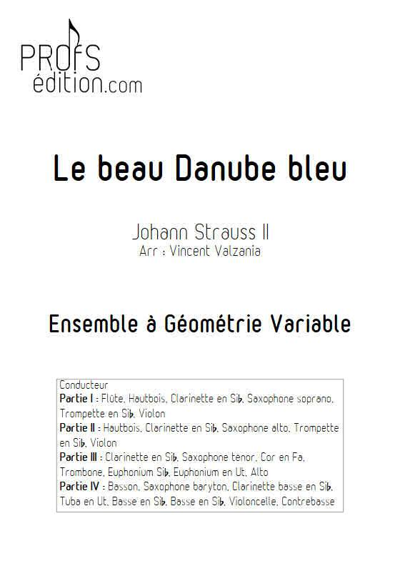 Le beau Danube bleu - Ensemble Variable - STRAUSS J. II - page de garde
