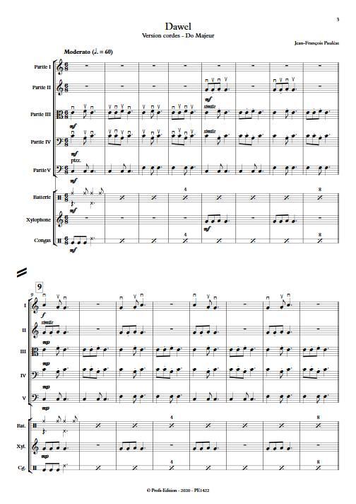 Dawel - Ensemble Variable - PAULEAT J. F. - Fiche Pédagogique