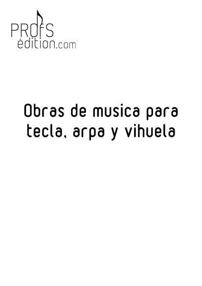 Obras de musica para tecla, arpa y vihuela - Poster - CHARLIER C. - page de garde