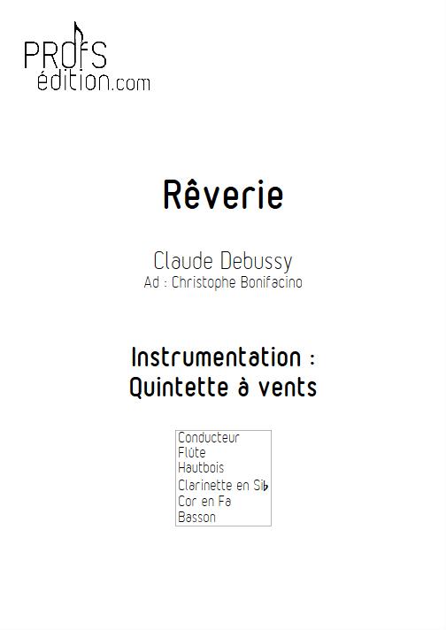 Rêverie - Quintette à Vents - DEBUSSY C. - page de garde