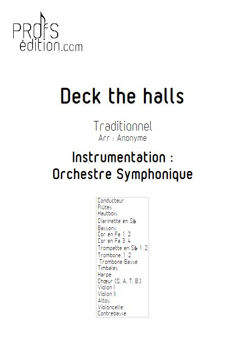 Deck the halls - Orchestre Symphonique & Chœur - TRADITIONNEL - page de garde