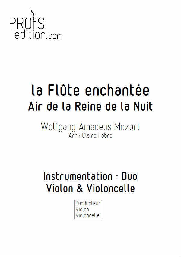 Air de la Reine de la Nuit - Duo Violon Violoncelle - MOZART W. A. - page de garde