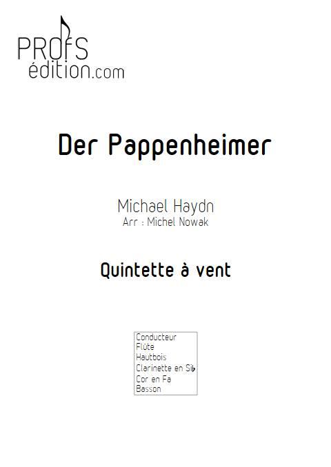 Der Pappenheimer - Quintette à vents - HAYDN M. - page de garde