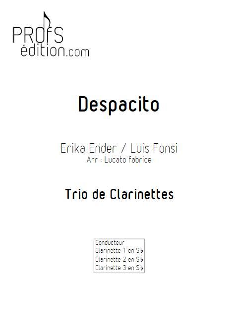 Despacito - Trio Clarinettes - FONSI L. - page de garde