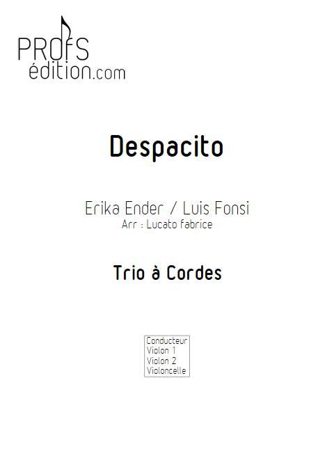 Despacito - Trio à cordes - FONSI L. - page de garde
